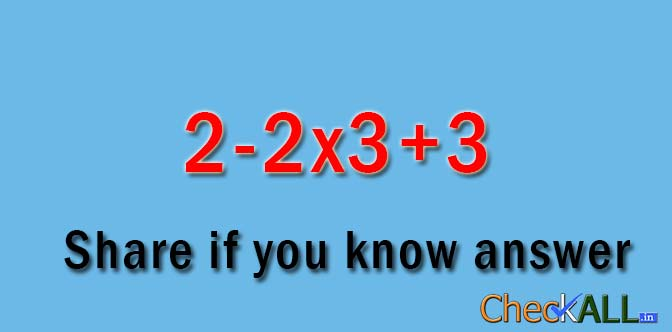 Math Puzzles Set 6, Comment your answers - CheckAll.in