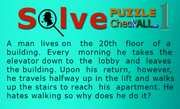 The Man in the Elevator Lateral Thinking Puzzle