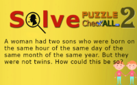 Trouble with Sons – Lateral Thinking Puzzles