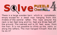 The Man who Hanged Himself – Lateral Thinking Puzzles