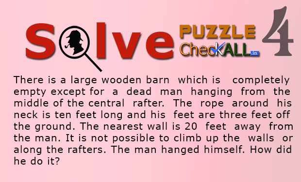 The Man who Hanged Himself Lateral Puzzle