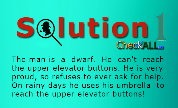 Solution The Man in the Elevator Lateral Thinking Puzzle